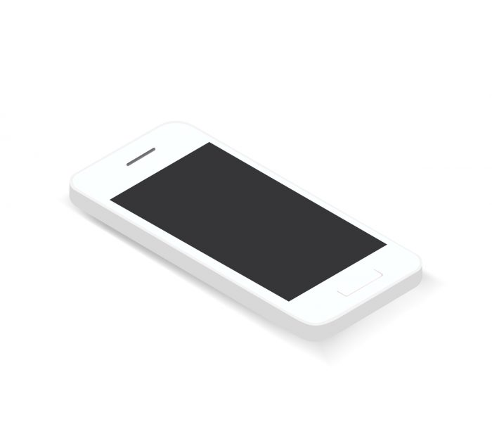 Vector of 3D smart phone icon on background